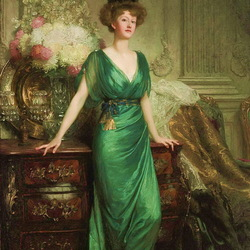Пазл онлайн: Портрет госпожи Эрнест Гиннесс