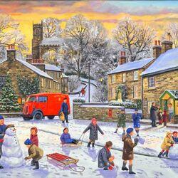 Пазл онлайн: Рождественские каникулы