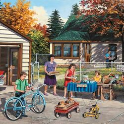Пазл онлайн: Распродажа на заднем дворе