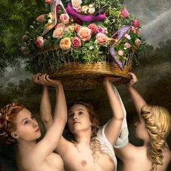 Пазл онлайн: Живописный каталог Кристиана Лубутена