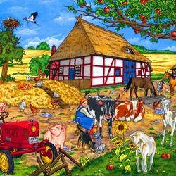 Пазл онлайн: Веселая ферма