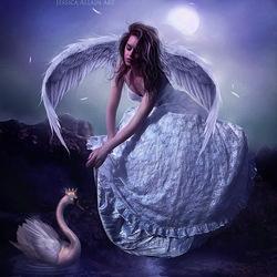 Пазл онлайн: Принцесса-лебедь