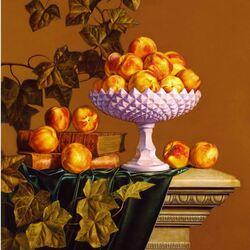 Пазл онлайн: Натюрморт с персиками