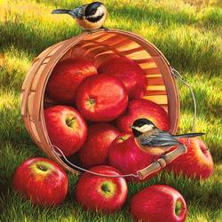 Пазл онлайн: Урожай красных яблок