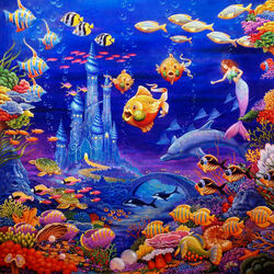 Пазл онлайн: Кораловый замок