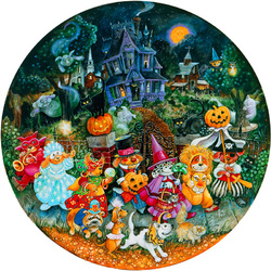 Пазл онлайн: Гав-мяу-хэллоуин