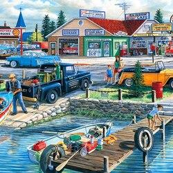 Пазл онлайн: На берегу озера