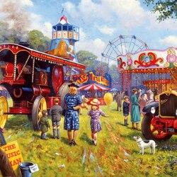 Пазл онлайн: Хороший день, чтобы посетить ярмарку