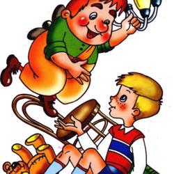Пазл онлайн: Малыш и Карлсон