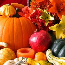 Пазл онлайн: Овощи, цветы и фрукты