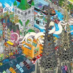 Пазл онлайн: Город