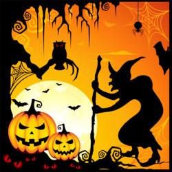 Пазл онлайн: Хэллоуин