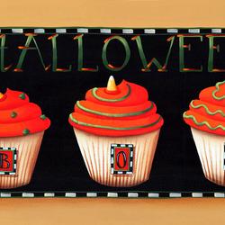 Пазл онлайн: Капкейки на Хэллоуин
