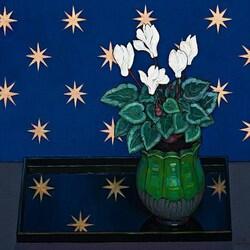 Пазл онлайн: Натюрморт с цветком в горшке
