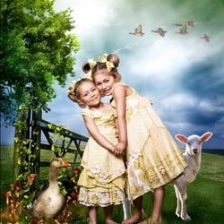Пазл онлайн: Сестрички
