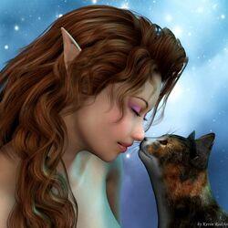 Пазл онлайн: Кошачий поцелуй