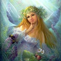 Пазл онлайн: Forest fairy / Лесная фея