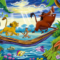 Пазл онлайн: Король Лев