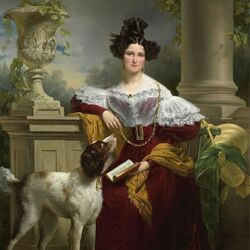 Пазл онлайн: Портрет дамы с собакой
