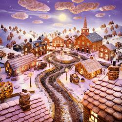 Пазл онлайн: Городок из печенья