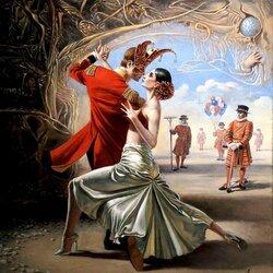 Пазл онлайн: Королевское танго