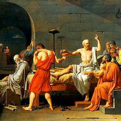 Пазл онлайн: Смерть Сократа