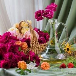 Пазл онлайн: Розовое благоухание