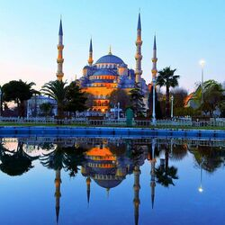 Пазл онлайн: Голубая мечеть. Стамбул