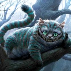 Пазл онлайн: Чеширский кот