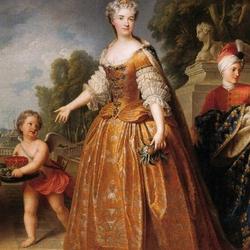 Пазл онлайн: Портрет Марии Лещинской, королевы Франции