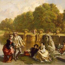 Пазл онлайн: Сцена в парке