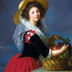 Пазл онлайн: Девушка с корзиной