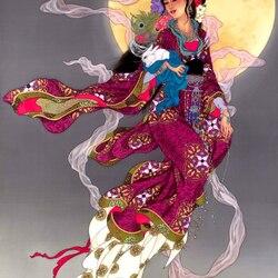 Пазл онлайн: Лунная фея Чан Э и Лунный заяц