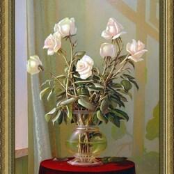 Пазл онлайн: Нежные розы
