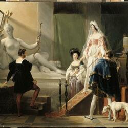 Пазл онлайн: Диана де Пуатье в мастерской Жана Гужона