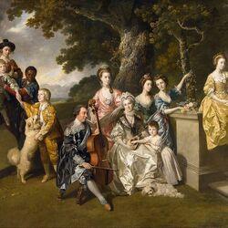 Пазл онлайн: Семья сэра Уильяма Янга