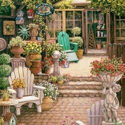 Пазл онлайн: Цветочный магазинчик
