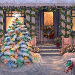 Пазл онлайн: Новогодние украшения