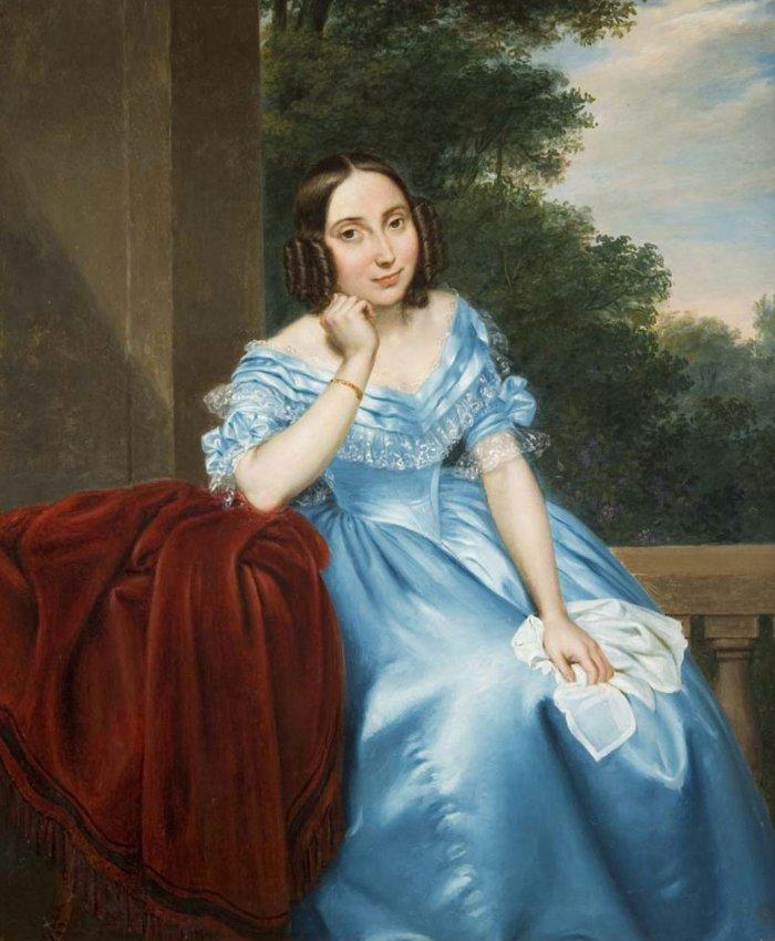 Девушка В Голубом Платье Картина