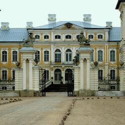 Пазл онлайн: Рундальский дворец. Парадный вход