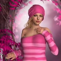 Пазл онлайн: Розовое