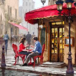 Пазл онлайн: Кафе для влюбленных