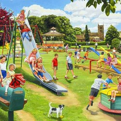 Пазл онлайн: На детской площадке