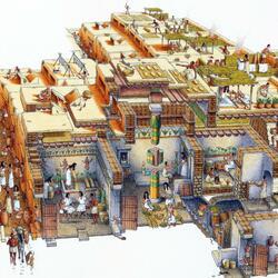 Пазл онлайн: Строители Пирамид