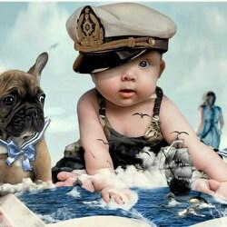 Пазл онлайн: Юные моряки