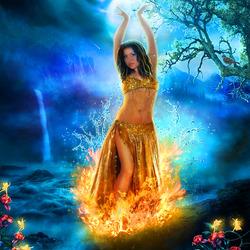 Пазл онлайн: Танец в огне