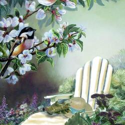 Пазл онлайн: В уютном саду