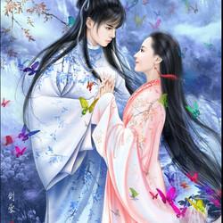 Пазл онлайн: Влюбленная пара