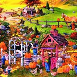 Пазл онлайн: Осенние заботы