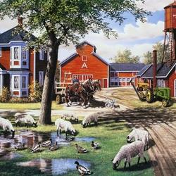 Пазл онлайн: Фермерский двор